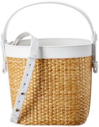 Nico Giani Adenia Large Straw & Leather Bucket Bag