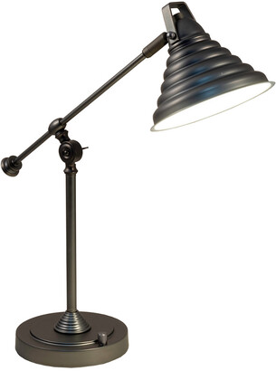 Springdale By Dale Tiffany Springdale 21.5In Cone Led Desk Lamp With Usb Charger