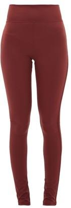 The Upside Berry Dance Side-stripe Stretch-jersey Leggings - Womens - Burgundy