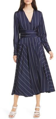 La Ligne Stripe Long Sleeve Dress