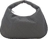 Bottega Veneta Women's Intrecciato Large Hobo-Light Grey