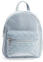 Girl's Omg Quilted Velvet Backpack - Blue