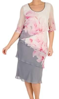 chesca Chesca Layered Chiffon Dress, Multi