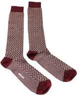 Missoni Gm00cmu5240 0002 Maroon/cream Knee Length Socks.