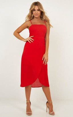 Showpo Swinging Days Dress in red - 6 (XS) Dresses