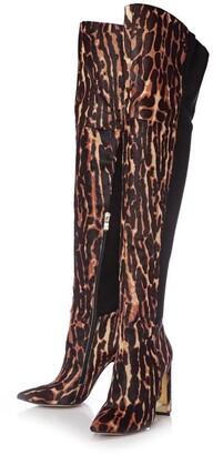 Moda In Pelle Viramoda Tiger Textured Animal Print