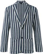 Lardini embroidered blazer - men - Cotton/Polyamide - S
