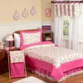 JoJo Designs Sweet Mod Circles 3-Piece Full/Queen Bedding Set in Pink/Green