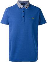 Etro contrast collar polo shirt - men - Cotton/Spandex/Elastane - S