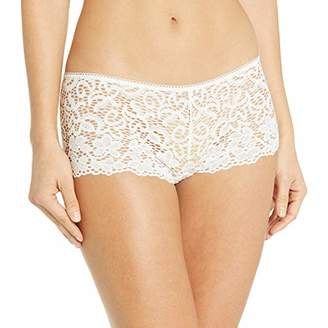 DKNY Intimates Women's Classic Lace Cheeky Boy Shorts,(Size: S)