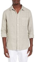 Original Paperbacks Men's Nice Trim Fit Linen Sport Shirt