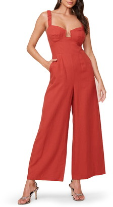ASTR the Label Versaille Sleeveless Wide Leg Jumpsuit