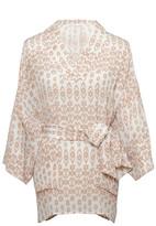 Gold Hawk Ikat Kimono Top