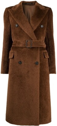 Tagliatore Jole textyred double-breasted coat