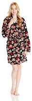 Paul Frank Women's Fuzzy Fun Julius Heart Print Robe