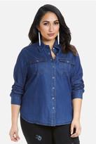 Fashion to Figure Terrain Snap Front Denim Shirt