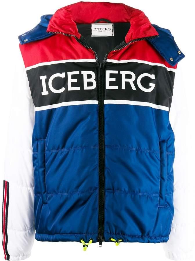 best sneakers 5d908 17619 colour-block logo jacket