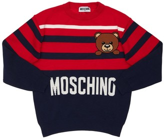 Moschino Logo Cotton Knit Sweater
