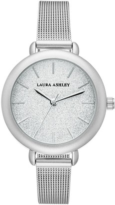 Laura Ashley Glitter & Mesh Watch