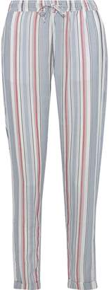 Onia Ella Striped Gauze Tapered Pants