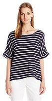 Calvin Klein Jeans Women's Waffle Stripe Ss Shirt