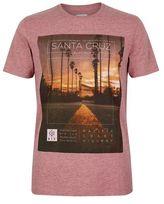 Burton Mens Pink Santa Cruz Print T-Shirt