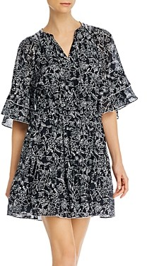Parker Floral Print A-Line Cotton Mini Dress
