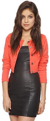 Forever 21 Crop Colored Denim Jacket