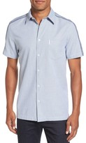 Ben Sherman Men's Dobby Short Sleeve Shirt