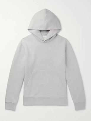 Acne Studios Forres Logo-Appliqued Melange Fleece-Back Cotton-Blend Jersey Hoodie