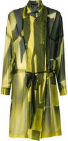 Ann Demeulemeester sheer printed coat