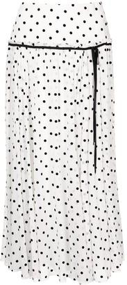 Carolina Herrera Polka Dot Midi Skirt