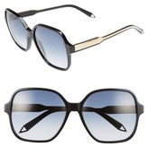 Victoria Beckham Women's Iconic Square 59Mm Sunglasses - Black/ Navy