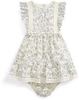 Ralph Lauren Childrenswear Floral Print Poplin Dress w/ Matching Bloomers, Size 9-24 Months