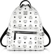 MCM Stark White Small Backpack