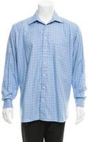 Burberry Windowpane Button-Up Shirt