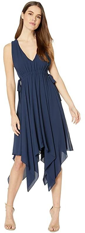 BCBGMAXAZRIA Day Midi Dress (Dark Navy) Women's Dress
