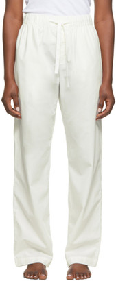 Tekla White Striped Pyjama Pants