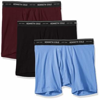 Kenneth Cole New York Men's Cotton Stretch Boxer Brief 3 Pk