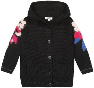 Catimini Lined Coat With Floral Jacquard