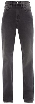 Frame Le Jane Straight-leg Jeans - Dark Grey