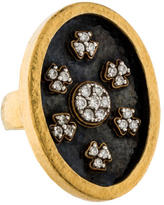 Gurhan Mixed Metal Diamond Cluster Ring