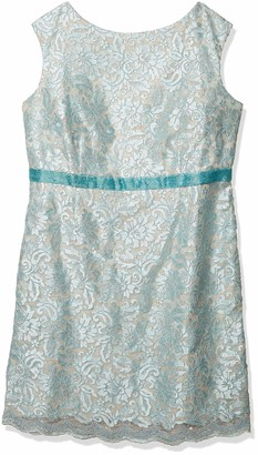 Brianna Women's Plus Size Sequin Lace Short Dress with Beaded Waistband
