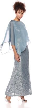 Ignite Women's Capelet Glitter Gown