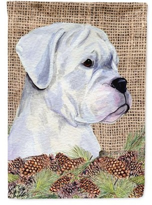 Caroline's Treasures Boxer Flag Canvas House Size