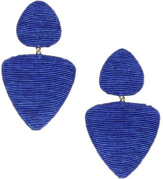 Rebecca De Ravenel Tahiti 2-Drop Clip-On Earrings