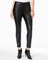 Bar III Faux-Leather Pull-On Pants, Only at Macy's
