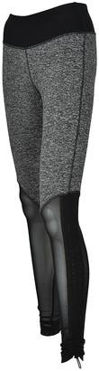 Therapy Women's Active Pants Grey - Gray Ruched Mesh Convertible Active Capri Leggings - Women