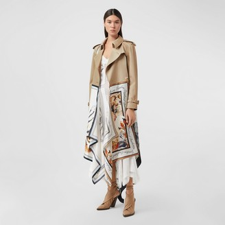 Burberry Animalia Print Cotton Twill Trench Coat