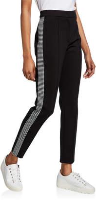 Escada Sport Tamianne Houndstooth Tuxedo-Striped Pants